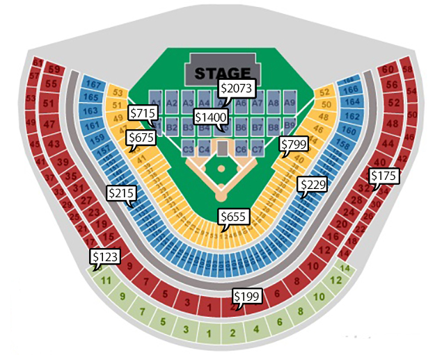 Billy Joel Seating Chart Dodger Stadium