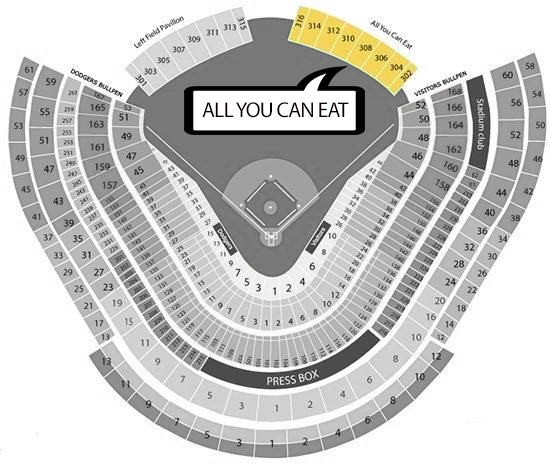 Dodgers Right Field Pavilion Seating Chart Barrysticketscom