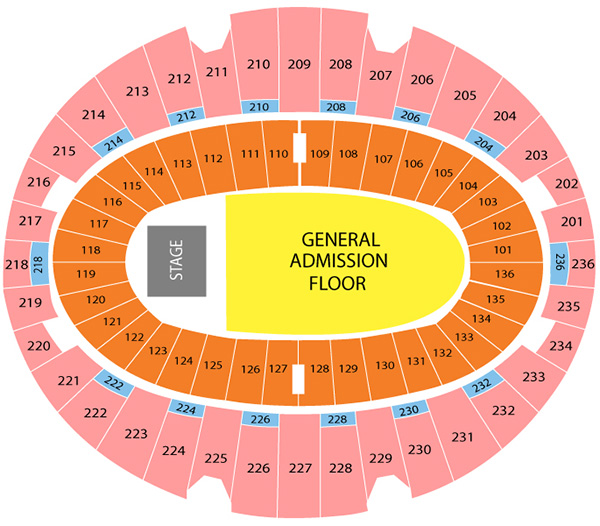 lady gaga seating chart the forum