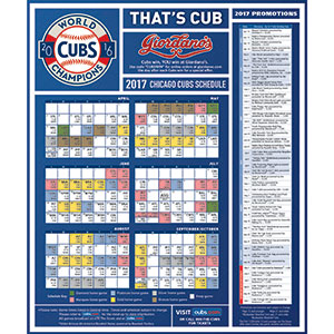 Chicago cubs giveaways