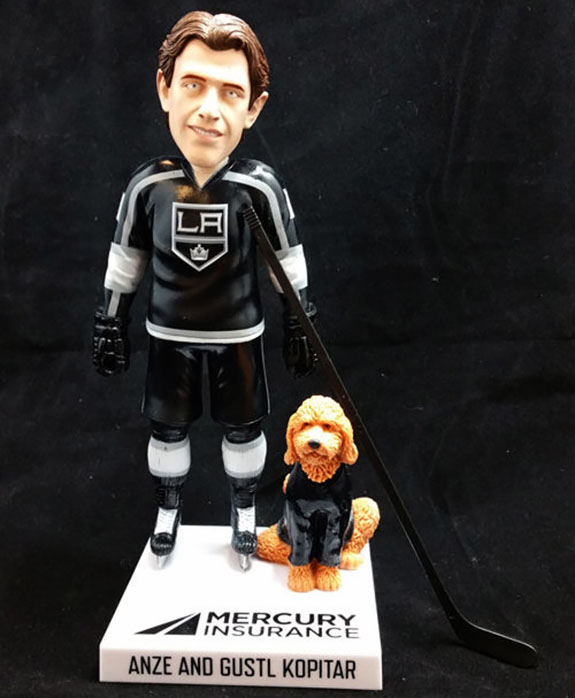 anze kopitar bobblehead giveaway gustl la kings