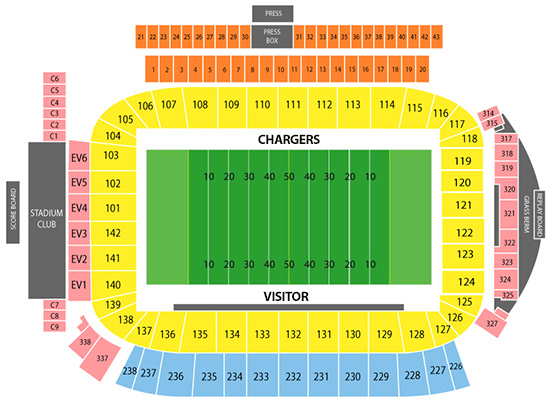 Chargers Stadium Seating Chart Guide New La Stadium