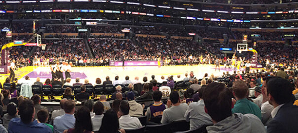 Where are the best seats for a Los Angeles Lakers game?