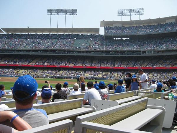 Dodger Stadium baseline club seats