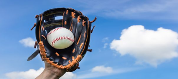 Getting a ball at Dodger Stadium