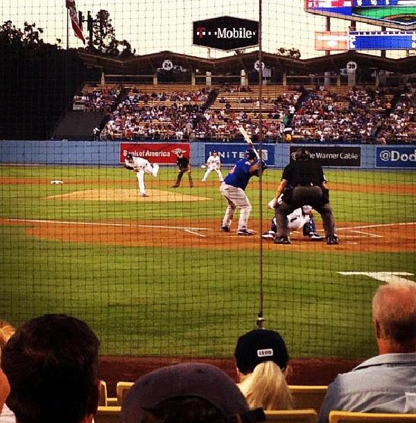 Dugout impressing a guest Dodger Stadium dugout