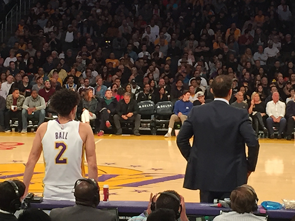 best seats for a Los Angeles Lakers game section 101
