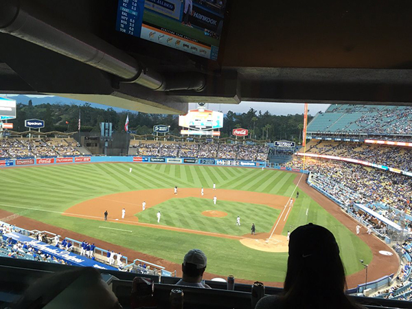Dodger Stadium luxury suite view