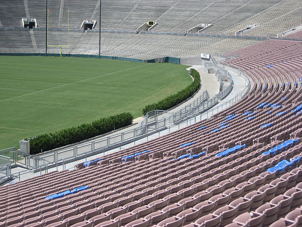 Seat backs at Pasadena Rose Bowl
