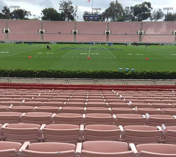 Rose Bowl letter rows seat view