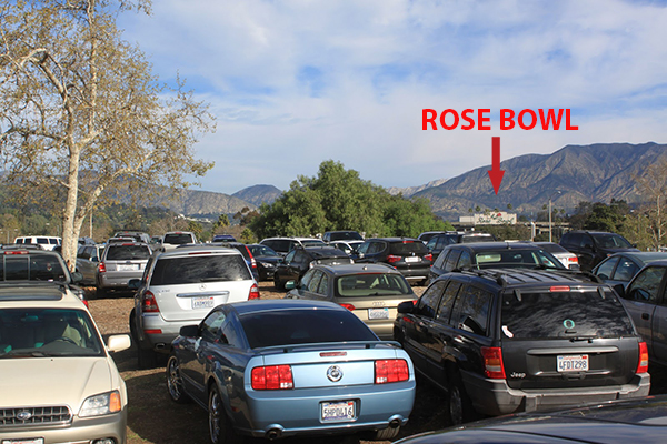 Parking at the Rose Bowl
