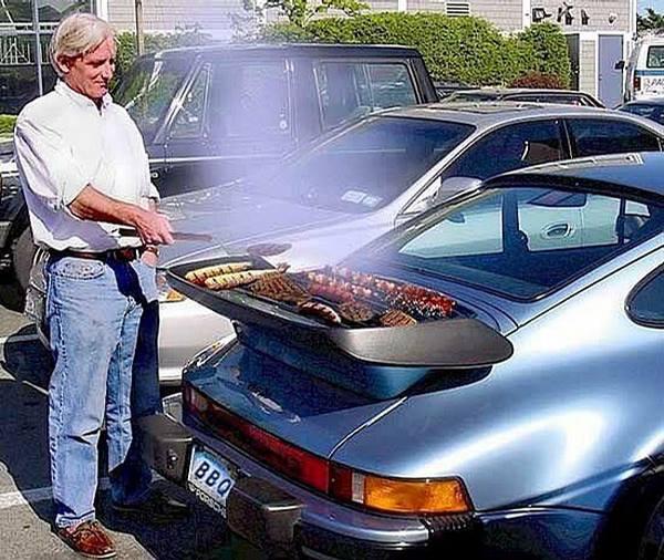 Grilling at Pasadena Rose Bowl game