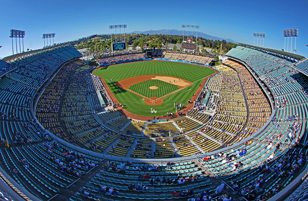 Dodger stadium day game shaded sections