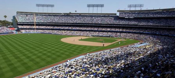Where are shaded seats at Dodger Stadium for a day game?