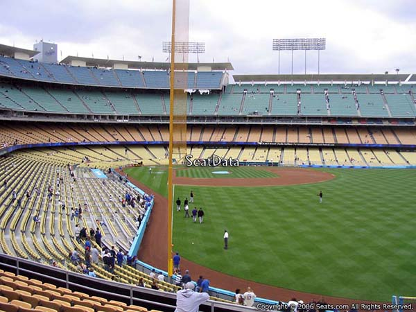 visiting team fans dodger stadium section loge box 168 seat view