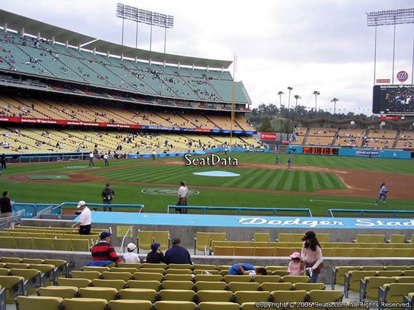 Section 18 seat view dodger stadium visiting team fans