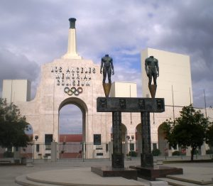 The entrance to the Coliseum