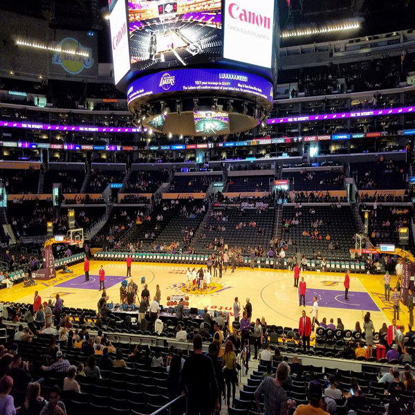 Premier 4 Behind Lakers Bench Staples Center