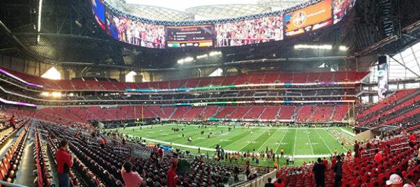 Where do the Atlanta Falcons play their home games?
