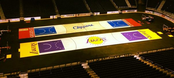 Clippers Lakers Basketball Court