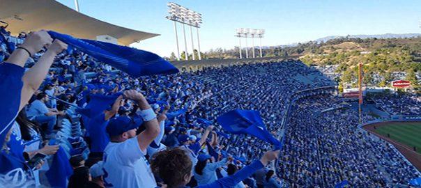 Dodger Fans at Dodger Stadium
