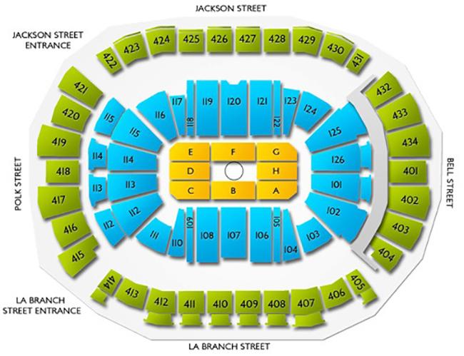UFC 265 Toyota Center Seating Chart
