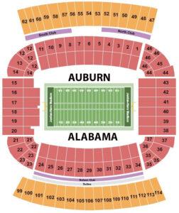 Jordan Hare Stadium Football Seating Chart Iron Bowl Auburn Tigers