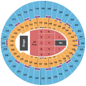 Lany The Forum Seating Chart Inglewood