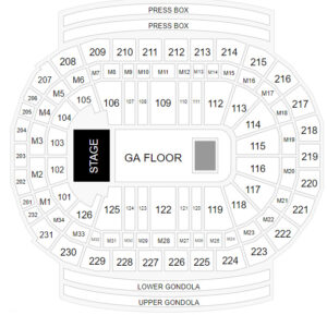 The Killers Little Caesars Arena Seating Chart