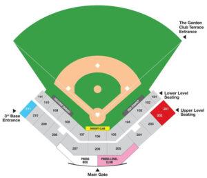 Georgia Bulldogs Softball Foley Field Seating Chart