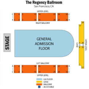 Symphony X The Regency Ballroom seating chart