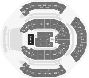 Bjork Tickets Chase Center Seating Chart San Francisco