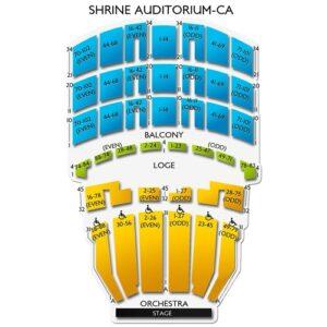 Bjork shrine auditorium seating chart